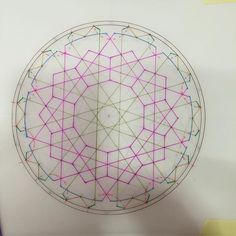 Underlying construction.. Awesome 10-fold geometry based on a wood panel design on a minbar in Ali-Pasha Mosque, Sarajevo