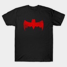 Bat Door T-Shirt - Batman T-Shirt is $13 today at TeePublic! Batman T-shirt, Batman Stuff, Superhero Logos, Dc Comics, V Neck T Shirt, Graphic Tees, Mens Tops, How To Make, Curvy