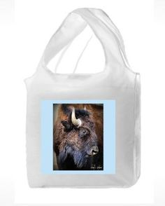 Reusable polyester shopping bag with bison photo. $12. This item is only available for visitors on the 2016 Gilpin Studio Arts Tour - Saturday  Sept 17th and Sunday Sept 18th 11:00 am - 5:00 pm.