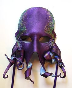 Octopus Mask - Handmade Leather Mask
