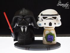 Cute wedding cake topper - Darth Groom and Storm Bride - https://www.facebook.com/different.solutions.page