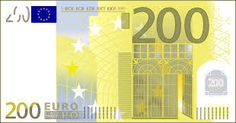 The 200 euro note furthers our progression trail.  The 200 depicts Art Nouveau architecture, a style common during the 19th and 20th centuries. Art Nouveau buildings usually used nature elements and curving shapes.