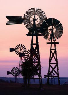 ˚A collection of full-sized historic windmills - Comstock Area Windmills, Nebraska