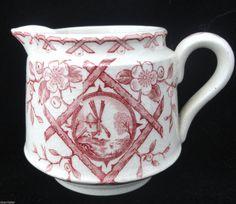 Staffordshire Childs Creamer Jug Tea Set ALASKA Whittaker &Co Transferware 1885