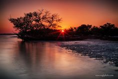 Sunset at Clubhouse Beach - Everglades National Park
