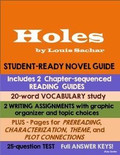 holes 2 essay Sachar writes the humorous plot of holes in a straightforward manner however, he weaves into the plot three subplotsthe subplots are tall-tale motifs that provide explanations about incidents involving previous yelnats generations that significantly impact stanley's life as well as the lives of others.