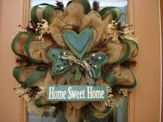 Deco Mesh Country Green St.Patrick's Day Wreath, St Patrick's Day Wreath. $105.00, via Etsy.