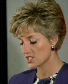 Princess Diana during a speech for HIV causes.