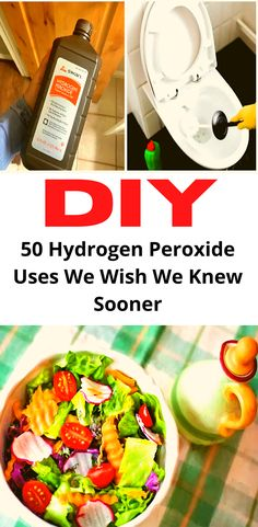 Household Cleaning Tips, Cleaning Recipes, House Cleaning Tips, Diy Cleaning Products, Cleaning Hacks, Homemade Products, Hydrogen Peroxide Uses, Diy Recycle, Diy Home Crafts