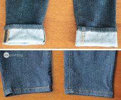Hemming Jeans - while keeping the original hem!
