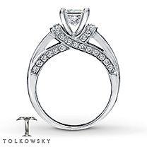 Tolkowsky® 14K White Gold 1 3/8 Carat t.w. Diamond Ring