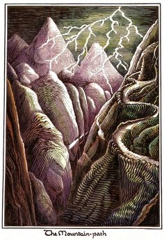 J.R.R. Tolkien - illustration for The Hobbit by deflam