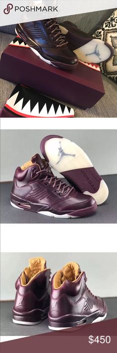 the best attitude 68c96 0d4ff air jordan 5 retro premium bordeaux Mens Size 9 This men s Jordan Retro 5  Premium flaunts