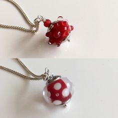 #red #stippen #glassbeads #jewelry