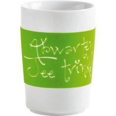 Fives Senses Maxi-Becher 0,35 l Abwarten und Tee trinken. touch! apfelgrün, KAHLA Porzellan