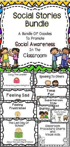 These Social Stories Are A Great Tool For The General Education Classroom And The Special Education Classroom!