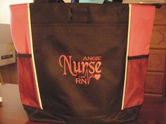 Tote Bag Personalize Nurse Student RN cna lpn ER Lvn by TOTEmebags