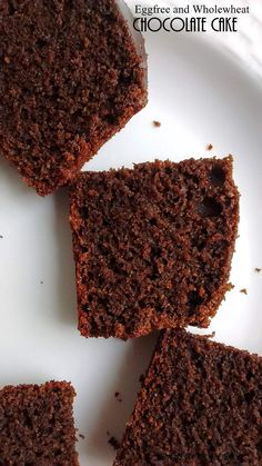 An easy egg free and wholewheat chocolate cake !