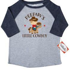 Inktastic Peepaw Grandpa's Little Cowboy Toddler T-Shirt Peepaws Grandson Boys Childs Kids Cute Gift Pee Paw Grandpa Grandfather Grandparents Tees. Child Preschooler Kid Clothing Apparel Hws, Size: 3T, Blue