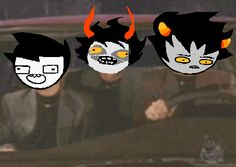KARKAT'S FACE. I feel like this gif is the representation of Homestuck.---Or at least the representation of these three.