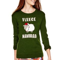 love by design long sleeve christmas sweater found at jcpenney - Jcpenney Christmas Sweaters
