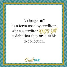 And just because they write it off doesn't mean you're off the hook!   You are responsible for the debt and it will likely report on your credit..... But not so fast make sure they can verify the debt before you pay!  Let us help you get back on track join one of our programs today at http://ift.tt/2aD1r20