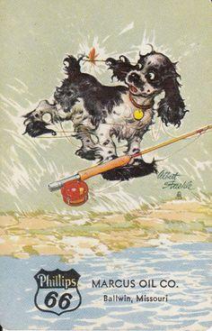 Vintage Swap/Playing Card -1 SINGLE - BUTCH DOG ADVERT - MARCUS OIL