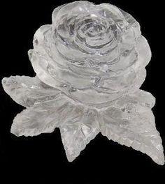 Rose aus Eis