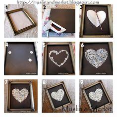 DIY Button Heart Tutorial by Muslin & Merlot
