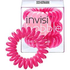 invisibobble Original The Traceless Hair Ring, Candy Pink 1 ea (26 BRL) ❤ liked on Polyvore featuring beauty products, haircare, hair styling tools and hair