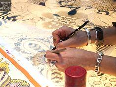 Hermes Festival des Metiers Nadine Rabilloud, Silk Engraver
