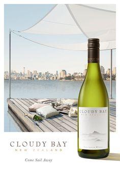 """• Client : Cloudy Bay """"Come Sail Away"""" - Pinot Noir & Sauvignon • Photoshoot & Retouche : les ateliers • Utilisation : Point de vente & Web"""