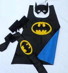 Childrens Super Hero Batboy Cape PLUS Accessory Set perfect for a kids HALLOWEEN COSTUME. $69.00, via Etsy.