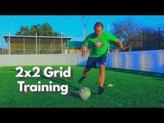 This video breaks down a great soccer drill to hep improve your passing and receiving. You will need 4 cones, a ball, and a partner to perform this soccer drill.