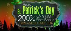 290% No Rules Bonus   100% Free Chip @ 3 RTG Casinos March 2016