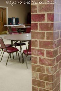 How to Paint Walls to Look Like Brick | Beyond the Screen Door