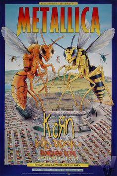 Metallica and Korn  ☮~ღ~*~*✿⊱╮Hippie Style, Free Spirit, Boho, - レ o √ 乇 !! ✿⊱╮❥☮ concert poster