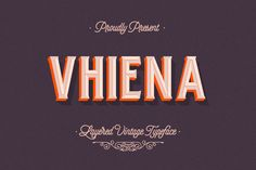 Vhiena Layer Type Free Demo is the part of a vintage typeface that is available today from the inspiration of old serifs