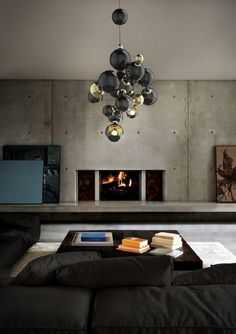 Another great suspension solution for your living room. Atomic, by DelightFULL - www.delightfull.eu #black #gold