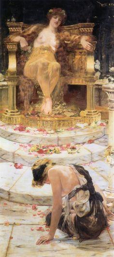 Edward Matthew Hale - Psyche at the Throne of Venus, 1883