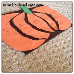 Preschool Crafts: Pumpkin Name Puzzles! Halloween Preschool Crafts: Pumpkin Name Puzzles! - How Wee LearnLEARN LEARN may refer to: Halloween Crafts For Kids, Halloween Activities, Autumn Activities, Fall Halloween, Preschool Halloween, Fall Preschool, Preschool Projects, Preschool Themes, Fall Arts And Crafts