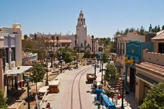 Buena Vista Street Construction Progress with the Carthay Circle Theatre in the background