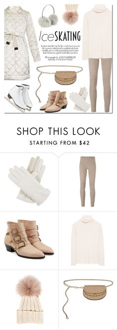 """Ice Skating Style"" by stellaasteria ❤ liked on Polyvore featuring Isotoner, Steffen Schraut, Chloé, The Row, Chanel, Inverni, Accessorize and iceskatingstyle"