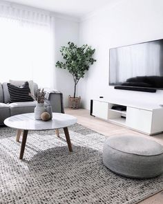Simple Style Co: Skandi Felted Wool Rug - Grey- One of our absolute favourite living spaces belongs Interiors By Meg Caris.interiors, we just can't get enough of those relaxed, cozy vibes 🖤 Featuring… Modern Contemporary Living Room, Living Room Modern, Home Living Room, Apartment Living, Interior Design Living Room, Living Room Designs, Living Room Decor, Living Spaces, Bedroom Decor