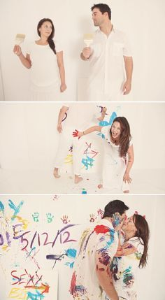 If my mom would let me splatter paint my room I would want to do this with someone.