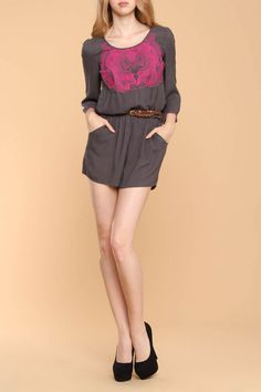 73ecbb4085e Previous item Next item ALTERNATIVE VIEWS Hover over large image to zoom  Lovelock Embroidered Romper In