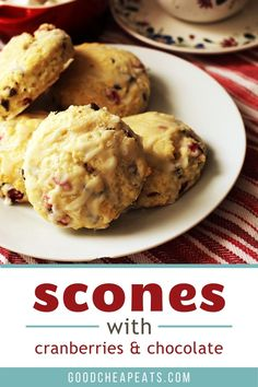 Whether you enjoy scones for breakfast or a quick snack, Chocolate Cranberry Scones will be one of your new favorites! Keep a batch in the freezer and you'll be only minutes away from enjoying these scones with a nice cup of coffee or tea any time of the day. Homemade Breakfast, Best Breakfast Recipes, Cranberry Scones, Self Rising Flour, Fun Cup, Quick Snacks, Good And Cheap, Freezer, Tea