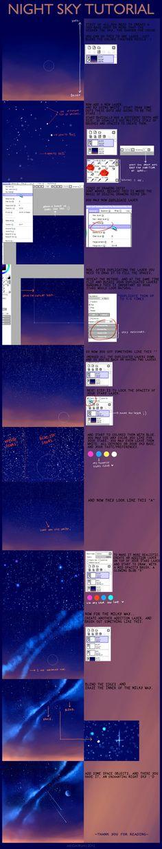 night sky tutorial . by megatruh on DeviantArt