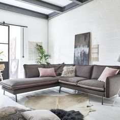 Polsterecke Styles United in graphite Sofas, Scandi Style, The Unit, Couch, Boho, Design, Home Decor, Nature, Scandinavian Furniture