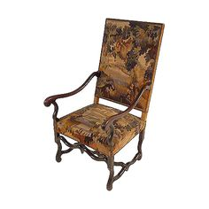 French Antique Louis XIII Style Single Armchair